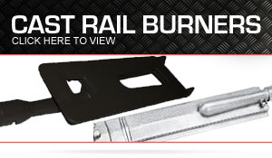 cast-rail burners