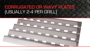 Wavy Heat Plate for Gas Grill