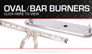 Oval-bar burners