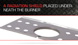 Radiation Shield for Gas Grill (Broilmaster)