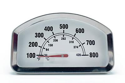 "Temperature Gauge / Heat Indicator | 3-3/8"" x 2-1/16"""