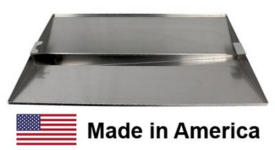 "USA-Made Holland Drip Pan / Grease Tray, Polished Aluminum, 18-Gauge | 23"" x 14-1/2"""