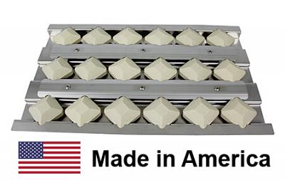 Alfresco Briquette Tray, Stainless Steel & Ceramic | 17-7/8″ x 10-5/8″