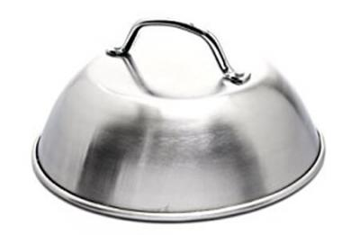 "Grill Pro Steaming Dome, Stainless Steel - 9"" Diameter"