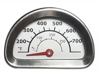 """Charbroil & Kenmore Heat Indicator, Stainless Steel - 1-3/16"""" x 1 3/4"""""""