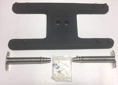 "Cast Iron Small Twin Universal H Burner w/ Venturis - 15-1/2"" x 7-1/2"""