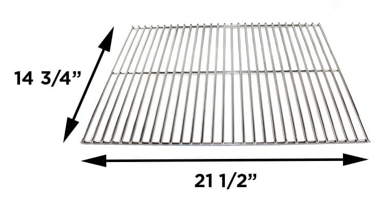 """CG53SS Cooking Grid, Stainless Steel - 14-3/4"""" x 21-1/2"""" with Dimensions"""