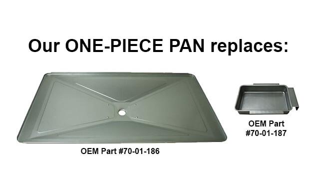 "USA-Made Dyna-Glo/Backyard Grill Drip Pan, 15-1/4"" x 28-5/8"""