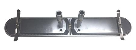 "Large Twin Universal Bar Burner w/ Venturis, Stainless Steel | 22"" x 3-1/2"""