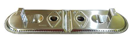"Charbroil Oval Burner, Stainless Steel : 13-7/8"" x 3-7/8"" (No Venturi)"