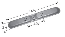 Stainless Steel Dual Oval Burner - Aussie