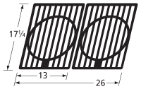 "Cast Iron Cooking Grid Set - 17-1/4"" x 26"""