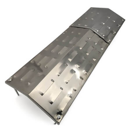 """Adjustable Heat Plate, Stainless Steel   8-1/2"""" x 19-1/2"""" to 29"""""""