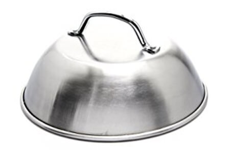 """Grill Pro Steaming Dome, Stainless Steel - 9"""" Diameter"""