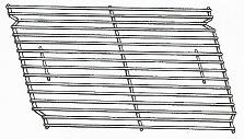 """Cooking Grid, Porcelain-Coated - 16-1/4"""" x 12-7/8"""" (2 Required)"""