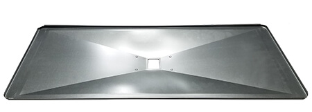 "Dyna-Glo Drip Pan / Grease Pan, Aluminized Steel | 15-3/8"" X 33-1/2"""
