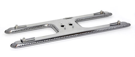 """Small Deluxe Dual Burner, Stainless Steel   16"""" x 8-1/8"""""""