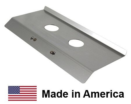 "USA-Made Holland Heat Shield, Stainless Steel | 9"" x 4-1/4"""
