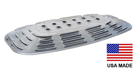 USA-Made Grill Mate / Uniflame Heat Plate, Stainless Steel | 21-3/4″ x 11-3/4″