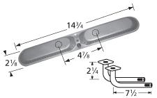 Stainless Steel Oval Burner w/Venturis - Aussie