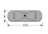 Cast Iron Single Oval Burner - Centered Inlet