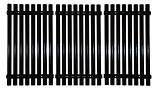 """Stamped Porcelain Steel Channels Cooking Grid Set - 16-3/8"""" x 28-1/2"""""""