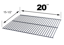 "Porcelain Cooking Grid for JNR - 15-1/2"" x 20"""