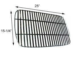 "Porcelain Steel Coated Cooking Grid - 15-1/4"" x 25"""