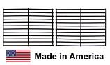 "USA-Made Briquette Grate Set, (2 pcs.), Carbon Steel | 11"" x 27"""