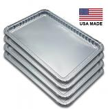 "USA-Made Drip Pan Liner, Aluminum, 4 ct. | 16"" x 11"""