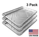 "USA-Made Drip Pan Liner, Aluminum, 3 ct. | 12-13/16"" x 17-5/8"""