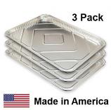 "USA-Made Drip Pan Liner, Aluminum, 3 ct. | 17-13/16"" x 25-13/16"""
