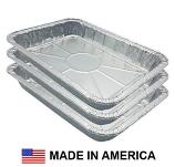 "USA-Made Weber Drip Pan Replacement, Aluminum, 3 ct. | 8"" x 6"""