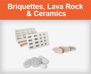 Briquettes, Lava Rock amd Ceramics