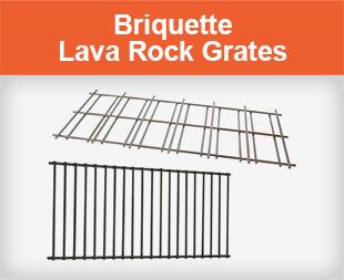 Briquette Lava Rock Grates for Gas Grills