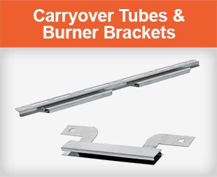 Carryover Tubes and Burner Brackets for Gas Grills